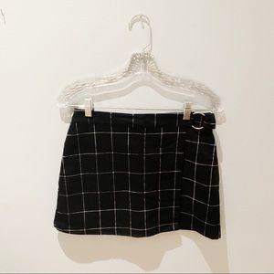 Grid Print Mini Skirt